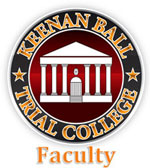 Gus Brown is on the Faculty of Keenan Ball Trial College