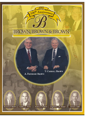 100th anniversary of Brown, Brown and Young